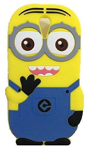 Heartly Cute Cartoon Minion Soft Rubber Silicone Flip Bumper Best Back Case Cover For HTC Desire 620 620G 820 Mini Dual Sim Double Eye