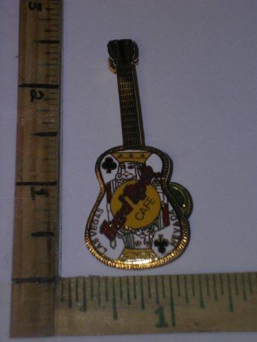 hard-rock-cafe-guitar-pin-las-vegas-nevada-12-string-1-neck-king-of-clubs-on-guitar-body