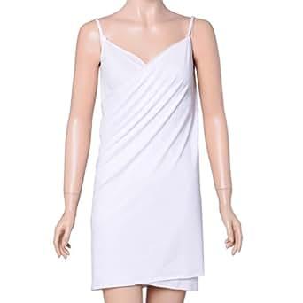 Lily's Design Sarong Paréo Blanc Robe de Plage 4 Styles , Cafetan, Cover Up pour la Plage