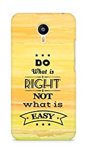 Amez Do what is Right Not what is Easy Back Cover For Meizum 2 Note