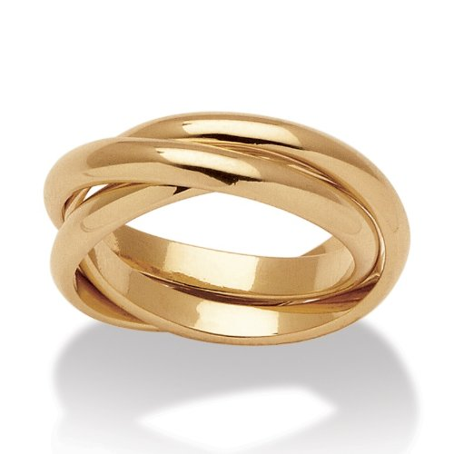 PalmBeach Jewelry 14k Yellow Gold-Plated Rolling Ring