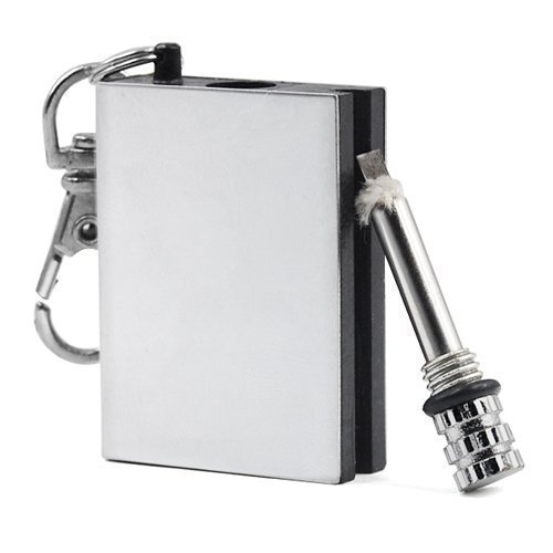 Accessotech Permanent Metal Match Box Lighter Striker Gadget Military Novelty Keyring Flame