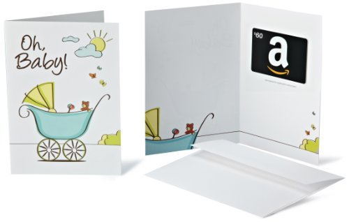Amazon.Com Gift Card With Greeting Card - $60 (New Baby Design) front-392167
