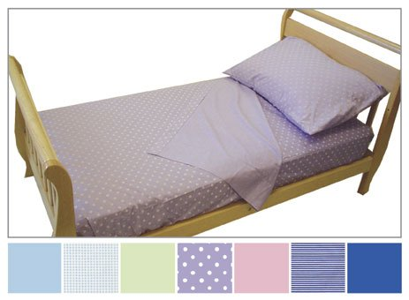 Toddler Bed Sheet Set - Lavender Dots