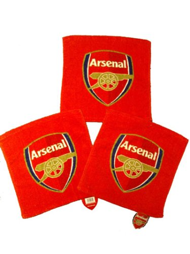 OFFICIAL ARSENAL F.C. CRESTED FACE CLOTH