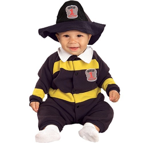 Rubie's Costume EZ-On Romper Costume, Lil' Firefighter, 6-12 Months - 1