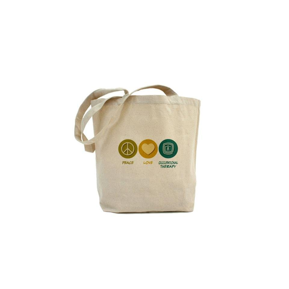Peace Love Occupational Therapy Funny Tote Bag by
