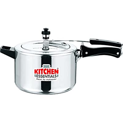 Kitchen Essentials Induction Bottom Aluminium Pressure Cooker - 5 Litre INNER LID