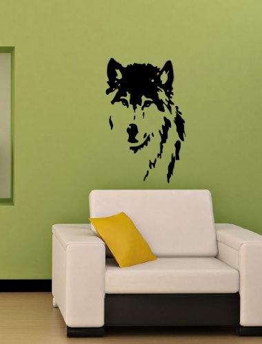 Housewares Vinyl Decal Wolf Dog Face Home Wall Art Decor Removable Stylish Sticker Mural Unique Design For Any Room front-151987