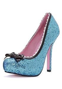 Blue Glitter High Heels from Leg Avenue