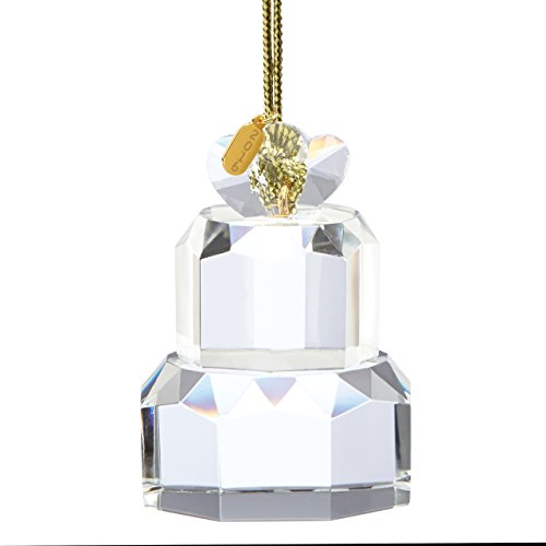 Lenox 2016 Our First Christmas Cake Crystal Ornament