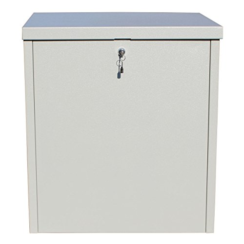 Qualarc PCSDB-LG Parcel Chest Secure Locking Delivery Box Made of Galvanized Steel, Textured Gray, Large (Delivery Package compare prices)