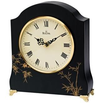 Asiana Mantel Clock with Bamboo Motif