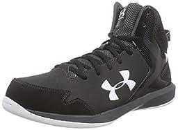 Under Armour Men\'s UA Lockdown Black/Charcoal/White Sneaker 12.5 D - Medium
