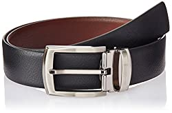 Covo Black and Brown Leather Men's Formal Belt (AXB20-40)