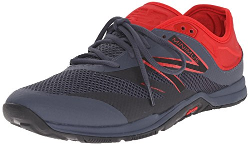 New Balance Hombre 20v5 Minimus Training Shoe, Black/Red, 49 EU