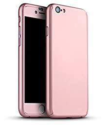 I3C 360 All Round Protective Case for iPhone 6/6s 4.7 Inch Rose Gold