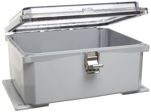 """Integra H10084Hcfll Premium Line Enclosure, Hinged, Locking Latch Cover, Clear Cover, Mounting Flange, 10"""" Height, 8"""" Width, 4"""" Depth"""