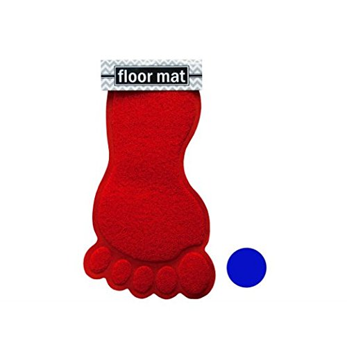 Foot Shaped Absorbent Bath Mat (Feet Shaped Rug compare prices)