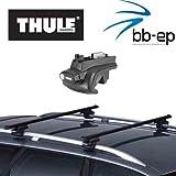 Thule Premium Dachträger / Lastenträger für Volkswagen Passat (B6) Variant 5 Türer Kombi Baujahr 2005 bis 2010 mit normaler Dachreling - Komplettsystem