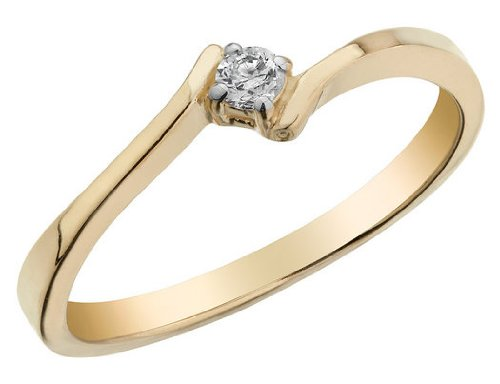 Diamond Promise Ring in 10K Yellow Gold