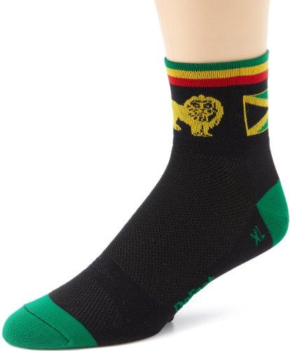 DeFeet Men's Aerator One Love Sock, Black, Medium