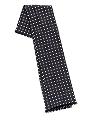 Pure Silk Polka Dot Dress Scarf