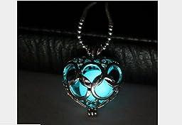 1 X Cyan Glow Legend of Zelda Necklace Heart Zelda Heart Necklace Zelda Heart Piece Necklace Pendant Zelda Heart Pendant