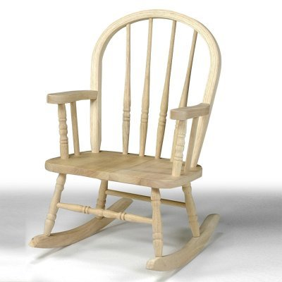 rocking chair unfinished wood overview this kids windsor rocking chair ...