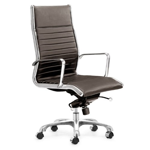 Brown Leatherette High Back Executive Chair Nexos Collection by Zuo Modern Inc - 205103