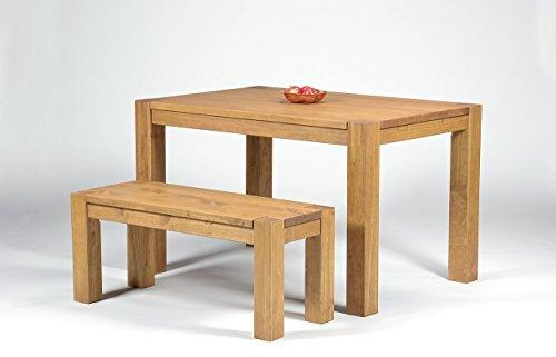 Sitzgruppe-Garnitur-mit-Esstisch-Rio-Bonito-120x80cm-1-Bank-100x38cm-Pinie-Massivholz-gelt-und-gewachst-Farbton-Honig-hell-Optional-Ansteckplatten-verfgbar-Tisch-120x80-1x-Bank-100x38cm