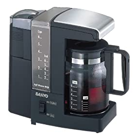 Sanyo SAC-MST6 Coffee/Tea Maker with Built-In Grinder, Black