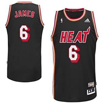 Miami Heat Lebron James Hardwood Classics HWC Adidas Swingman Jersey by adidas