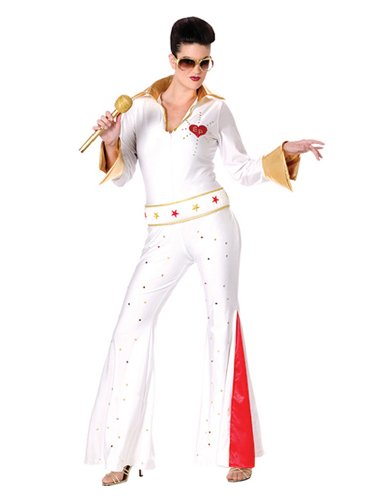 Sexy Elvis Costume Celebrity Costumes Jumpsuit With Glitter and Rhinestones