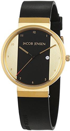 JACOB JENSEN JACOB JENSEN NEW SERIES ITEM NO. 734 - Reloj unisex, correa de goma color negro