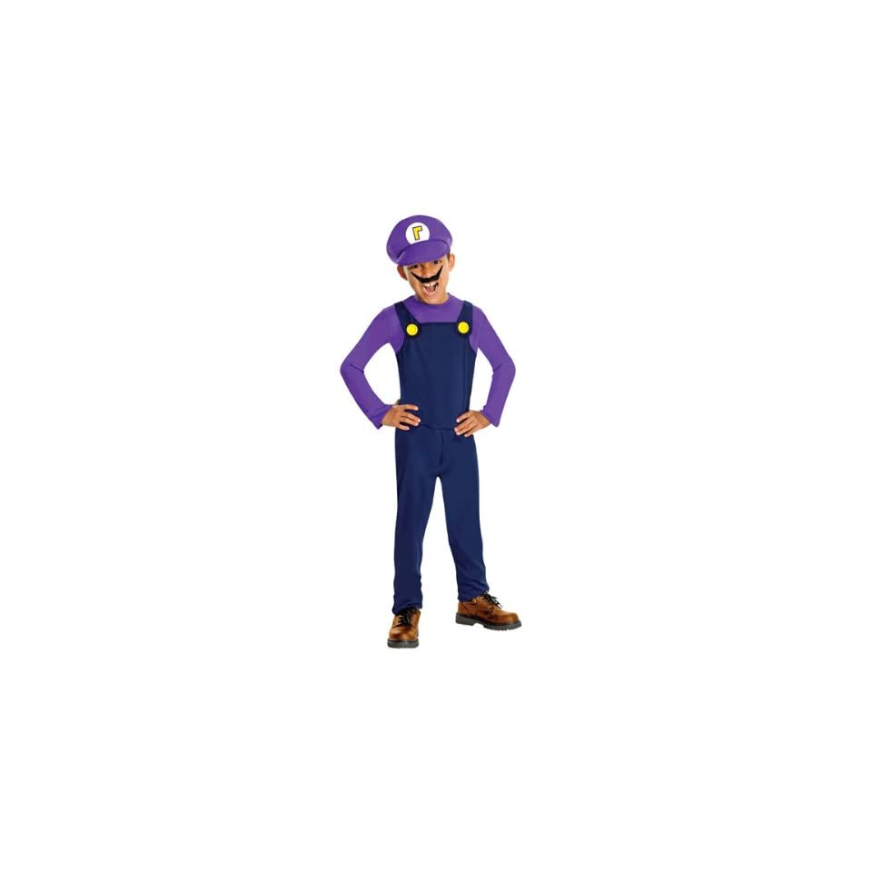 Super Mario Bros   Waluigi Child Costume
