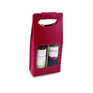 Picnic Time Venezia Two-Bottle Wine Carrier, Red