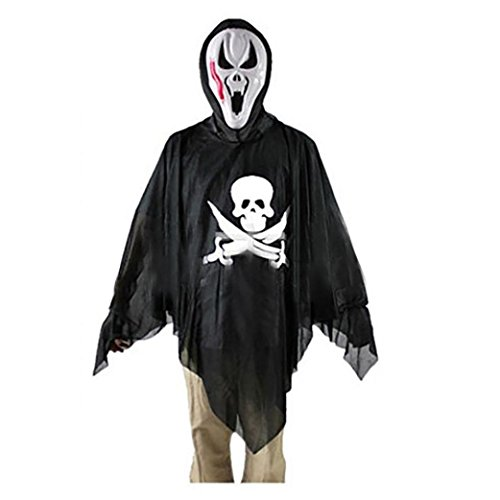 [Oksale® Halloween Party Hooded Cloak Coat Wicca Robe Medieval Cape Shawl Ghost Witch Cothes (C)] (Zombie Bunny Halloween Costume)