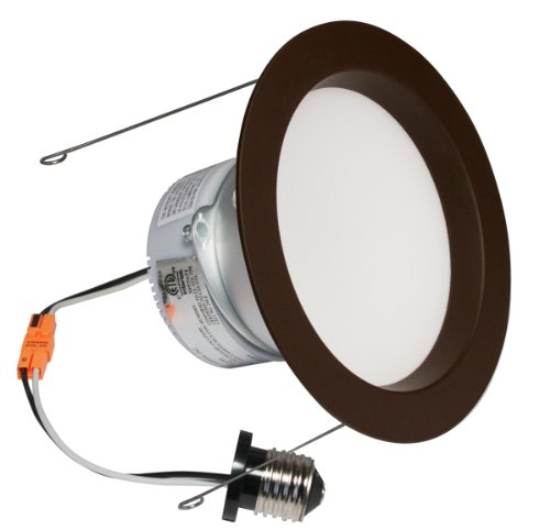 American Lighting Ep6-E26-30-Db E-Pro 6-Inch Downlight, 3000K Color Temp, E26 Base, 10W, 720 Lm, Dark Bronze Trim