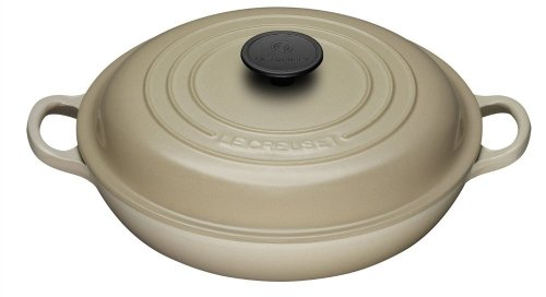Le Creuset 26 cm Cast Iron Shallow Casserole in Almond