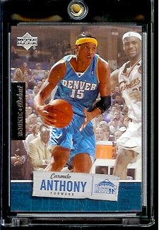 2005 06 Upper Deck Rookie Debut Carmelo Anthony Denver Nuggets Basketball Card 21 Mint Condition In Protective Display Case