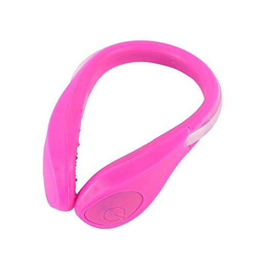 YUSUN-LED-Velo-Cyclisme-Chaussures-Clip-Velo-Securite-Avertissement-Feux-Lumineux-LED-Flash-Light-Pour-Chaussures-De-Courselumere-rose