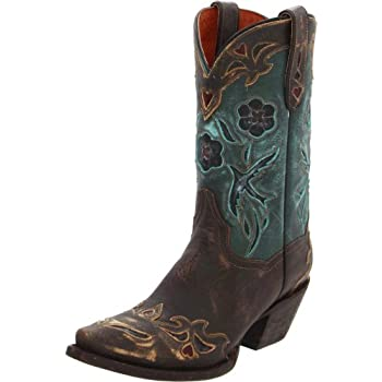 Dan Post Women's Vintage Blue Bird Western Boot