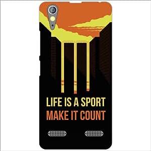 Lenovo A6000 Plus Back Cover - Silicon Life Is Sport Designer Cases