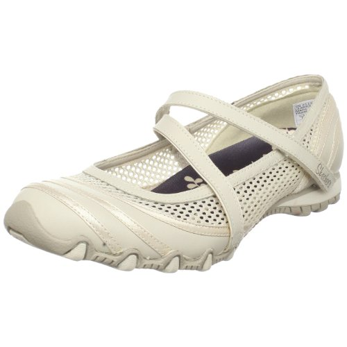 Skechers Women's Bikers Proposal Ballerina, Beige, UK 4