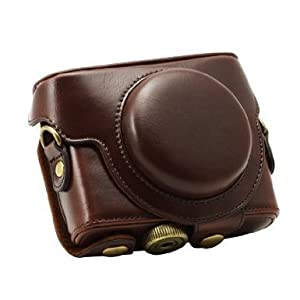 """MegaGear """"Ever Ready"""" Protective Brown Leather Camera Case , Bag for Sony DSC-RX100 RX100"""