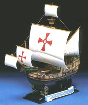 Aoshima Santa Maria 1492 Historical Sailing Ship Model Kit