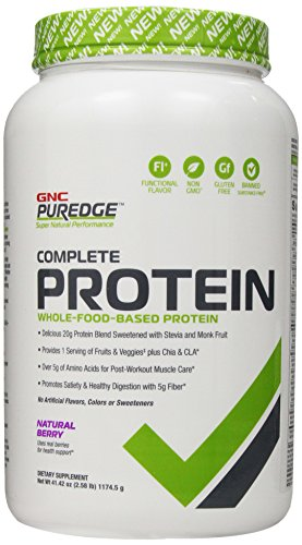 Gnc Puredge Complete Protein Supplement, Natural Berry, 2.58 Pound