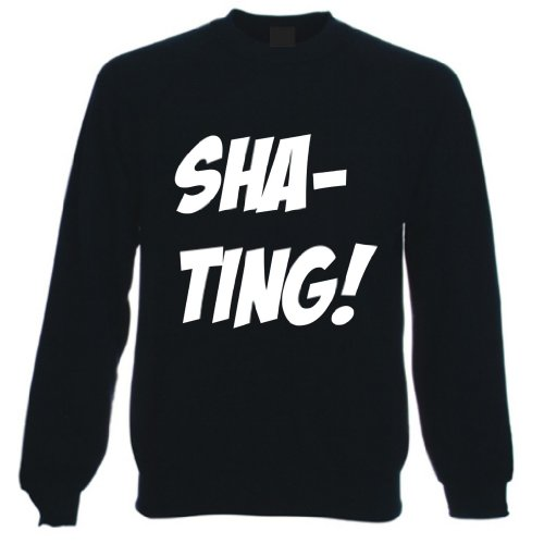 Shat-Ting! Funny Sweatshirt Sweater Jumper, Mens, Black, XX Large