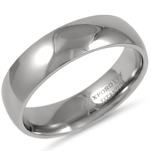 6mm Mens Comfort Fit Titanium Wedding Band Available Ring Sizes 7 12 12 Ov